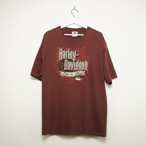 Harley-Davidson Men's VINTAGE Plum Tee Shirt